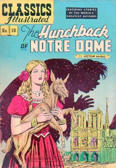 Cover for Classics Illustrated (Gilberton, 1947 series) #18 [HRN 140] - The Hunchback of Notre Dame [First Painted Cover]