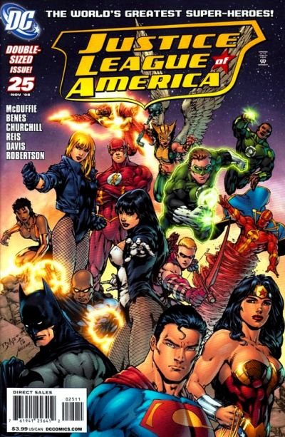 Cover for Justice League of America (DC, 2006 series) #25