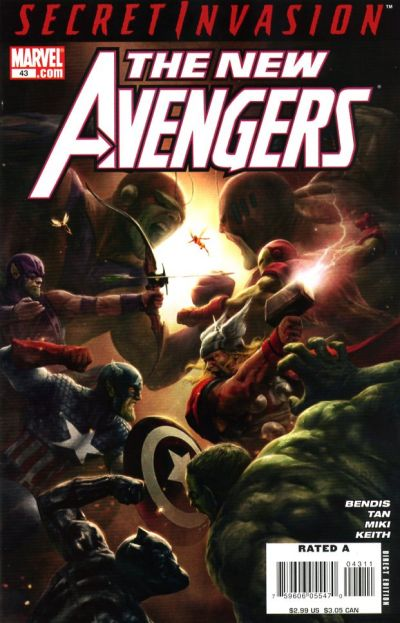 Cover for New Avengers (Marvel, 2005 series) #43