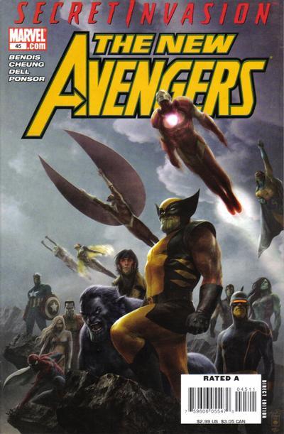 Cover for New Avengers (Marvel, 2005 series) #45
