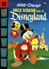 Cover Thumbnail for Walt Disney's Uncle Scrooge Goes to Disneyland (Dell, 1957 series) #1