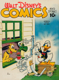 Cover for Walt Disney's Comics and Stories (Dell, 1940 series) #v1#7 [7]