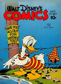 Cover Thumbnail for Walt Disney's Comics and Stories (Dell, 1940 series) #v2#9 (21)
