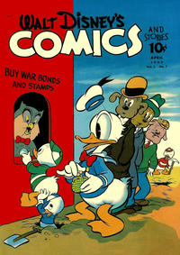 Cover Thumbnail for Walt Disney's Comics and Stories (Dell, 1940 series) #v3#7 (31)