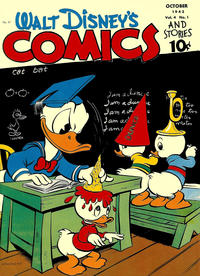 Cover Thumbnail for Walt Disney's Comics and Stories (Dell, 1940 series) #v4#1 (37)