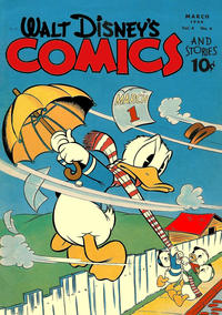 Cover Thumbnail for Walt Disney's Comics and Stories (Dell, 1940 series) #v4#6 (42)