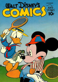 Cover Thumbnail for Walt Disney's Comics and Stories (Dell, 1940 series) #v5#1 (49)