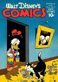 Cover Thumbnail for Walt Disney's Comics and Stories (Dell, 1940 series) #v5#7 (55)