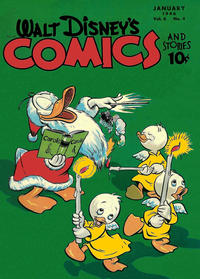 Cover Thumbnail for Walt Disney's Comics and Stories (Dell, 1940 series) #v6#4 (64)