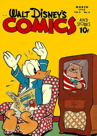 Cover Thumbnail for Walt Disney's Comics and Stories (Dell, 1940 series) #v6#6 (66)