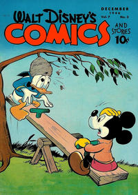 Cover Thumbnail for Walt Disney's Comics and Stories (Dell, 1940 series) #v7#3 (75)