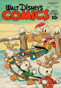 Cover Thumbnail for Walt Disney's Comics and Stories (Dell, 1940 series) #v7#4 (76)