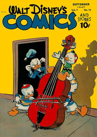 Cover Thumbnail for Walt Disney's Comics and Stories (Dell, 1940 series) #v7#12 (84)