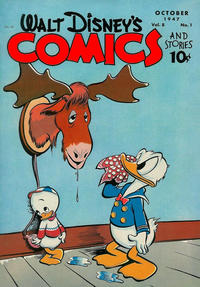 Cover Thumbnail for Walt Disney's Comics and Stories (Dell, 1940 series) #v8#1 (85)