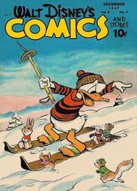 Cover Thumbnail for Walt Disney's Comics and Stories (Dell, 1940 series) #v8#3 (87)