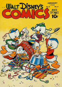 Cover Thumbnail for Walt Disney's Comics and Stories (Dell, 1940 series) #v8#4 (88)