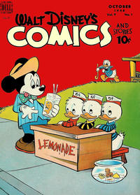 Cover Thumbnail for Walt Disney's Comics and Stories (Dell, 1940 series) #v9#1 (97)