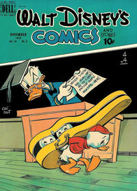 Cover Thumbnail for Walt Disney's Comics and Stories (Dell, 1940 series) #v10#2 (110)