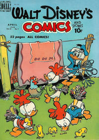 Cover Thumbnail for Walt Disney's Comics and Stories (Dell, 1940 series) #v10#7 (115)