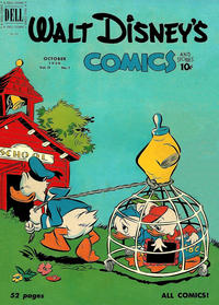 Cover Thumbnail for Walt Disney's Comics and Stories (Dell, 1940 series) #v11#1 (121)