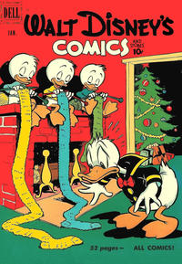 Cover Thumbnail for Walt Disney's Comics and Stories (Dell, 1940 series) #v11#4 (124)