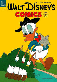 Cover Thumbnail for Walt Disney's Comics and Stories (Dell, 1940 series) #v14#1 (157)