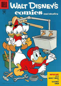 Cover Thumbnail for Walt Disney's Comics and Stories (Dell, 1940 series) #v16#1 (181)