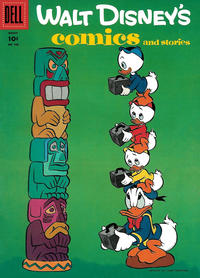Cover Thumbnail for Walt Disney's Comics and Stories (Dell, 1940 series) #v16#6 (186)