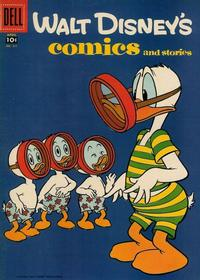 Cover Thumbnail for Walt Disney's Comics and Stories (Dell, 1940 series) #v18#7 (211)