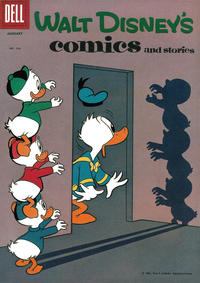 Cover Thumbnail for Walt Disney's Comics and Stories (Dell, 1940 series) #v21#4 (244)
