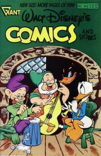Cover Thumbnail for Walt Disney's Comics and Stories (Gladstone, 1986 series) #543