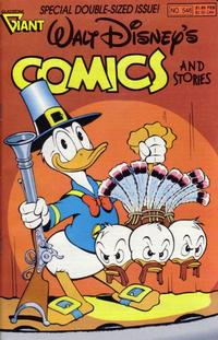 Cover Thumbnail for Walt Disney's Comics and Stories (Gladstone, 1986 series) #546 [Direct]
