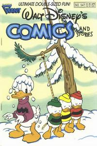 Cover Thumbnail for Walt Disney's Comics and Stories (Gladstone, 1986 series) #547