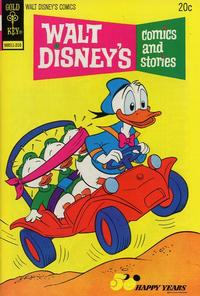Cover Thumbnail for Walt Disney's Comics and Stories (Western, 1962 series) #v34#1 (397) [Gold Key]