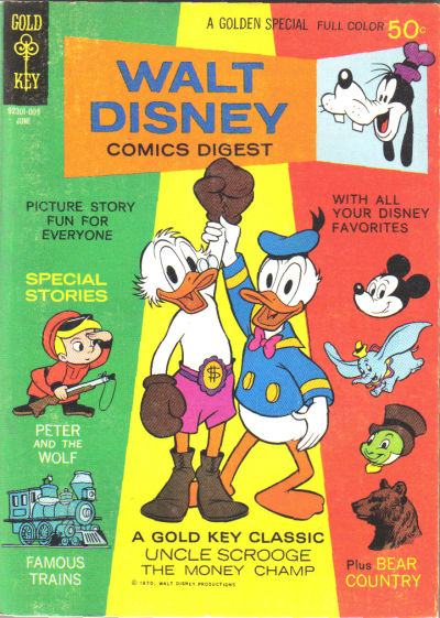 Cover for Walt Disney Comics Digest (Western, 1968 series) #22