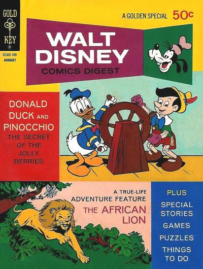 Cover for Walt Disney Comics Digest (Western, 1968 series) #30