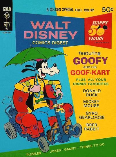Cover for Walt Disney Comics Digest (Western, 1968 series) #43 [Whitman]