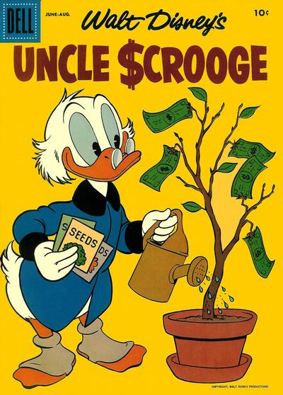 Cover for Uncle Scrooge (Dell, 1953 series) #18 [15 Cent Price Variant]