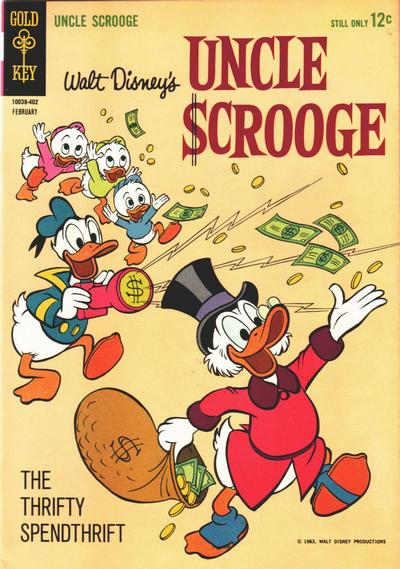 Cover for Uncle Scrooge (Western, 1963 series) #47