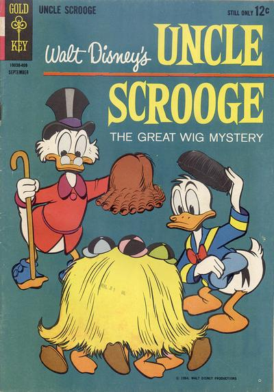 Cover for Uncle Scrooge (Western, 1963 series) #52