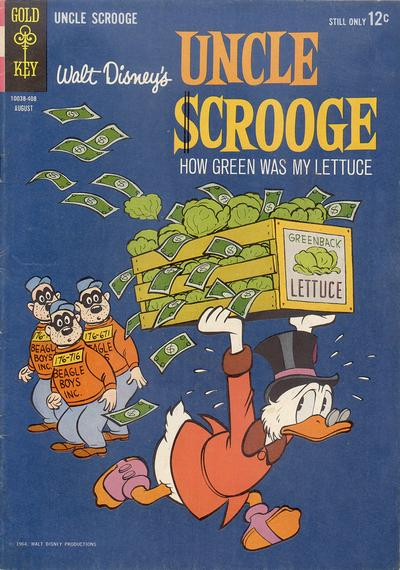 Cover for Uncle Scrooge (Western, 1963 series) #51