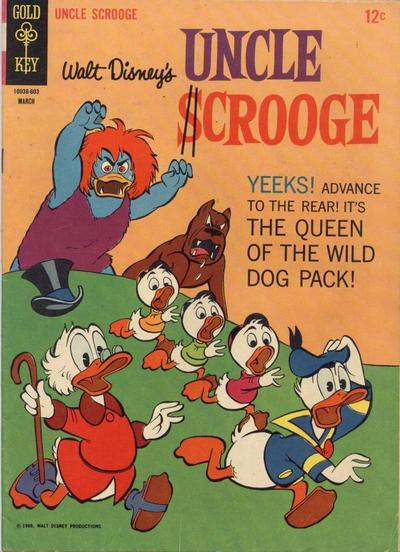 Cover for Uncle Scrooge (Western, 1963 series) #62