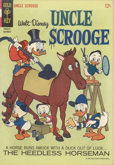 Cover for Uncle Scrooge (Western, 1963 series) #66