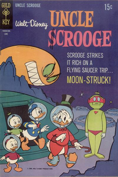 Cover for Uncle Scrooge (Western, 1963 series) #81