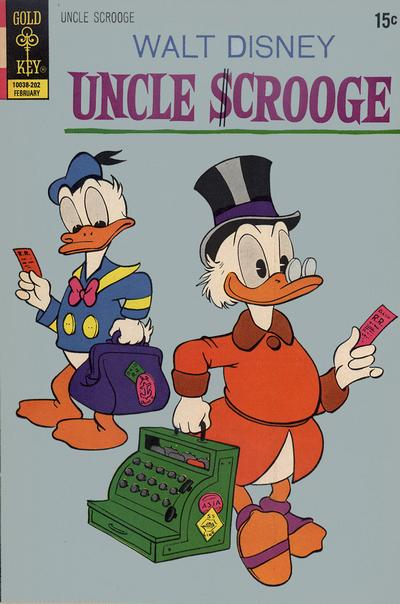 Cover for Uncle Scrooge (Western, 1963 series) #97 [Gold Key]
