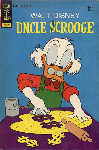 Cover for Uncle Scrooge (Western, 1963 series) #100 [Gold Key Variant]