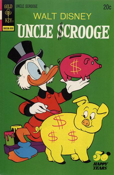Cover for Uncle Scrooge (Western, 1963 series) #107 [Gold Key]