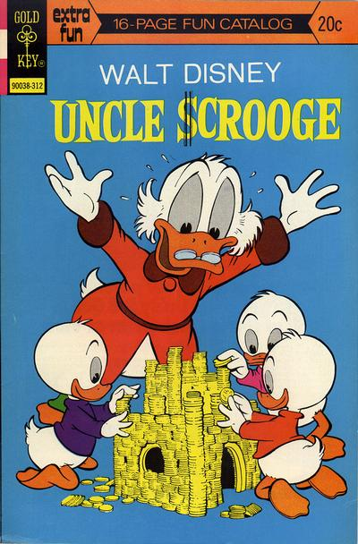 Cover for Uncle Scrooge (Western, 1963 series) #109 [Gold Key Variant Fun Catalog]