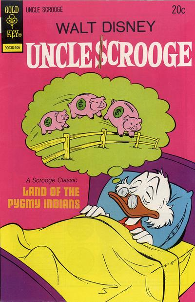 Cover for Uncle Scrooge (Western, 1963 series) #112 [Gold Key Variant]