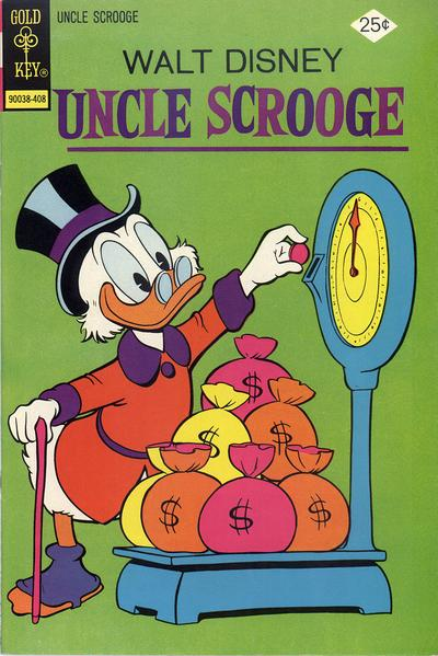 Cover for Uncle Scrooge (Western, 1963 series) #113 [Gold Key Variant]